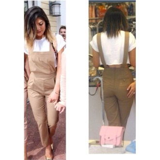 romper beige nude kylie style summer canada overalls kyliejenner fashion