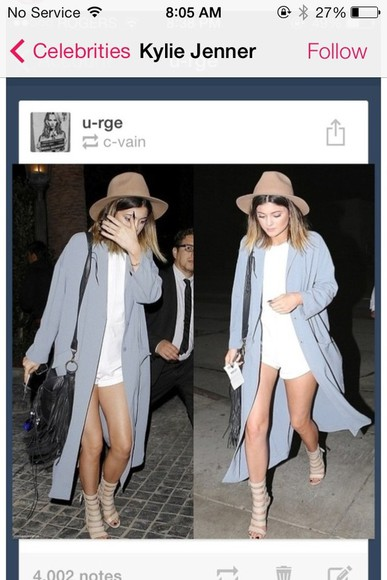 kylie jenner dress coat