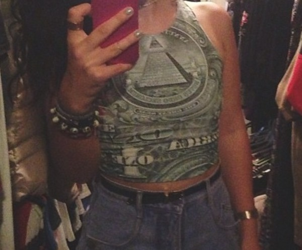 shirt crop tops dollar illuminati