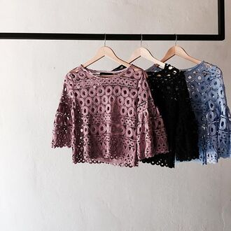 blouse style mafia top blue pink black
