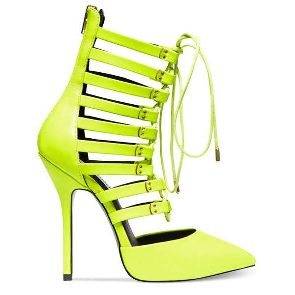Steve madden sts gladiator pump in yellow leather – flyjane