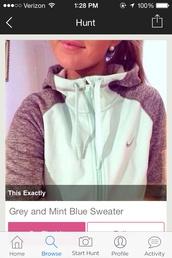 jacket,mint,nike sportswear,zip up jacket