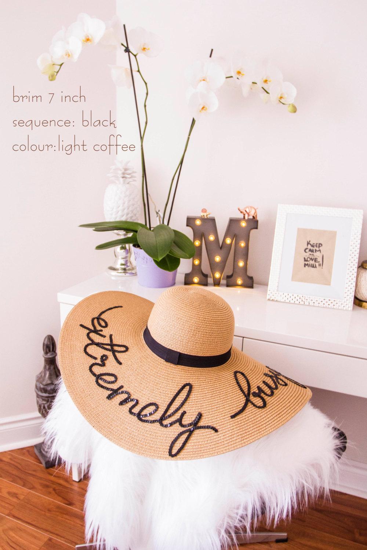Light Coffee colour - Summer floppy hat 1650116631f