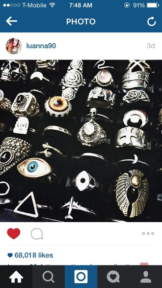jewels rings and tings le happy goth grunge jewelry jewelry luanna perez blogger knuckle ring ring silver silver ring big rings jewelry ring black jewelry