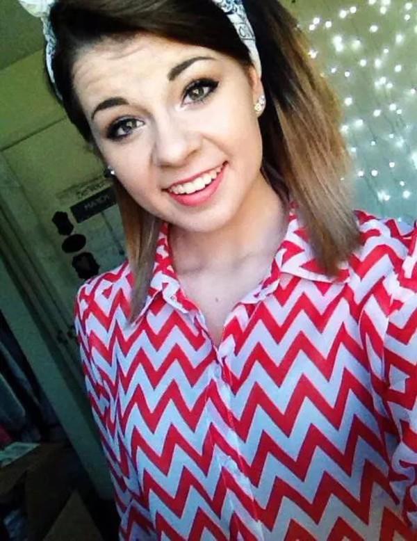 blouse sheer chevron shirt