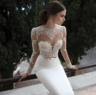 dress wedding white dress broderies elegant white dress wedding dress belt gold dress sexy dress elegant dress beautiful princesa princess wedding dresses nice fashion girly dreamcatcher