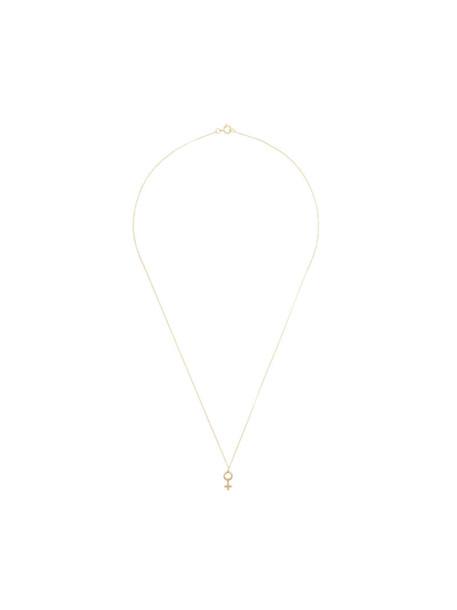 Rachel Entwistle women necklace pendant gold grey metallic jewels