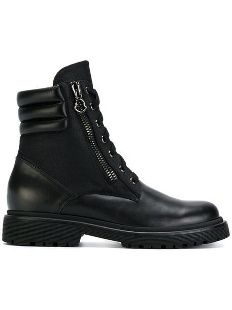 women lace up boots lace leather black shoes