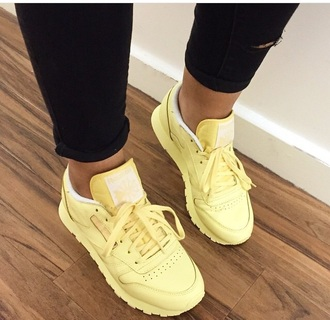 shoes yellow reebok classic reebok