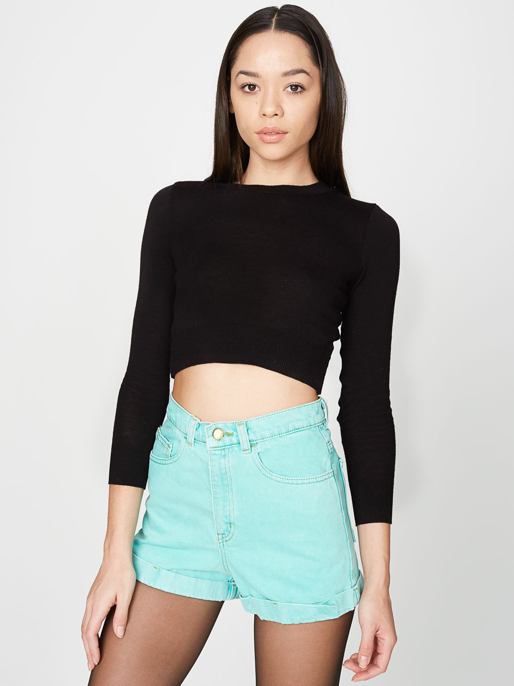 Waist jean cuff short