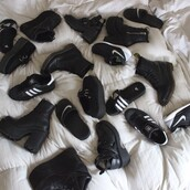shoes,nike shoes,nike air,adidas,adidas shoes,black and white,tumblr shoes,tumblr,dope,creepers,creeper shoes