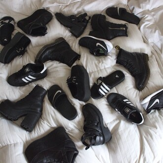 shoes nike shoes nike air adidas adidas shoes black and white tumblr shoes tumblr dope creepers creeper shoes