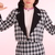 Glitters For Dinner — Made To Order - Dionne Black Checkered Blazer