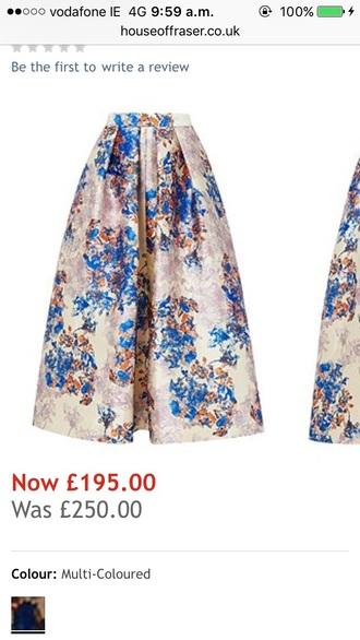 skirt midi pleated midi skirt floral skirt