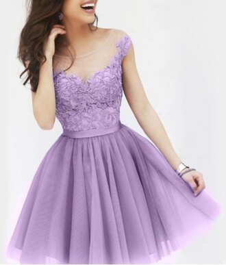 dress purple lilac prom dress gown girly fancy lace fashion style puffy dress embroidered outfit