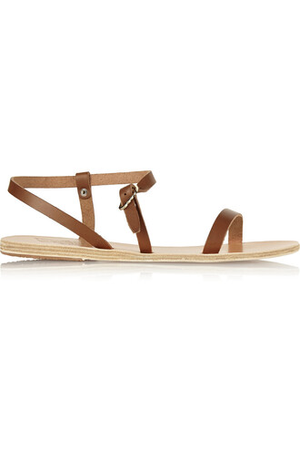 sandals leather sandals leather light brown shoes