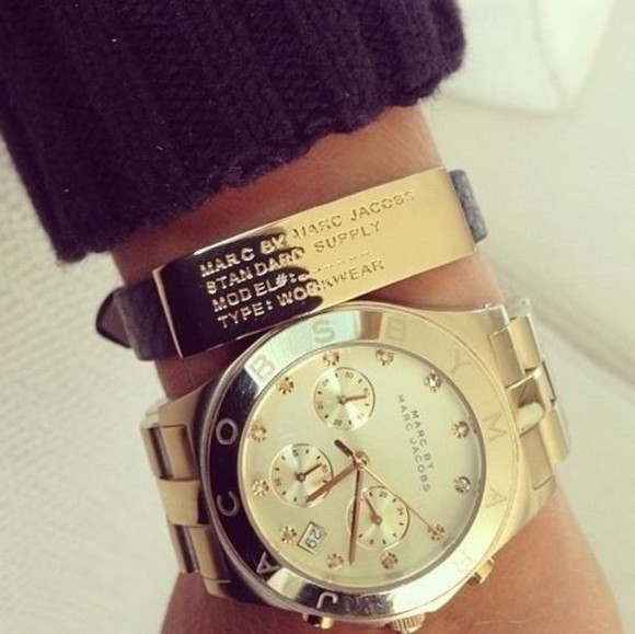 jewels gold diamonds clock marc by marc jacobs bracelets