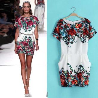 dress floral mini style summer goingout daydress cute dress brenda-shop party dress