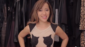 dress michelle phan cat dress youtube youtuber https://www.instantoutfits.com/black-cat-silhoutte-cutout-pencil-dress.html