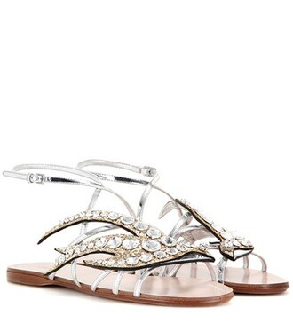 embellished sandals silver shoes