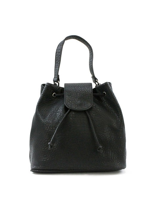 April black bucket hobo bag