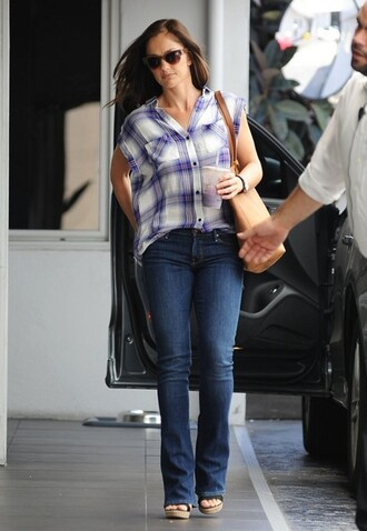 shirt jeans sunglasses minka kelly