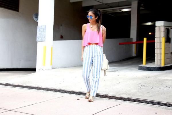 the material girl top jewels sunglasses bag pants