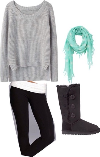 sweater grey comfy oversized sweater side slit cozy warm pants red lime sunday scarf shoes