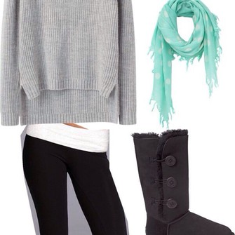 scarf sweater shoes red lime sunday grey pants oversized sweater warm cozy comfy side slit scarf red
