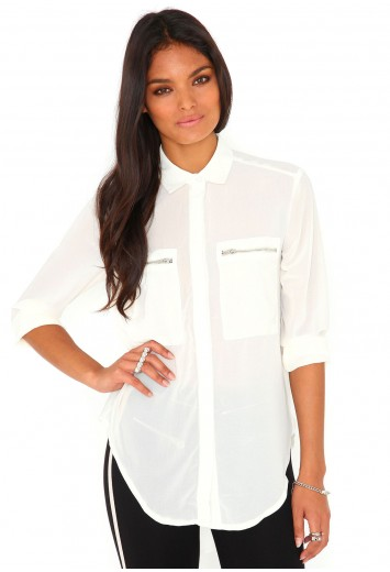 Gravila Zip Blouse - Tops - Missguided