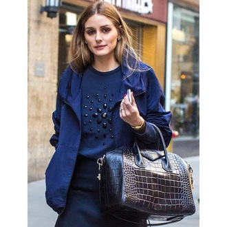 bag olivia palermo jacket navy