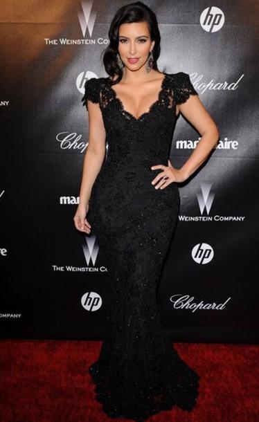 kim kardashian mermaid prom dress