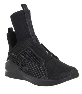 shoes puma high top sneakers black sneakers