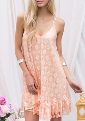 dress pink slip dress pink dress slip dress short dress boho cuff bracelet bracelets hair accessory flower crown summer dress summer outfits lace dress