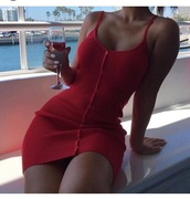 dress,red,buttoned dress,button,red dress,tight,tight dresses,button up dress