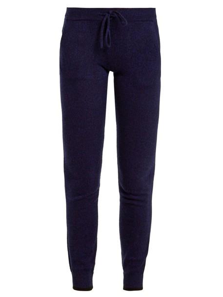 pants track pants drawstring blue black