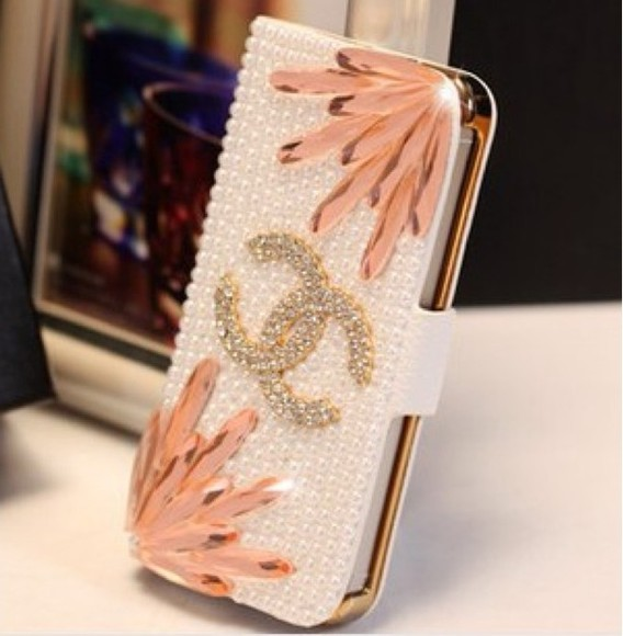 alexa chung jewels chanel phone case chanel case iphone case bling phone case chanel iphone 5 case pink case iphone bling iphone case bling case iphone 5