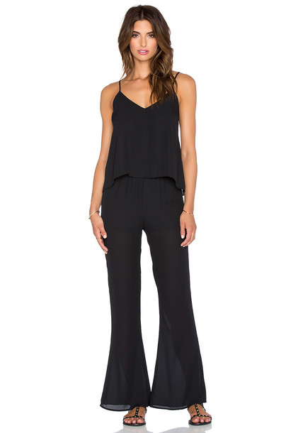 EIGHT SIXTY jumpsuit flare black