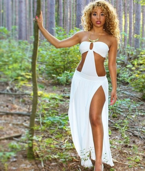model beautiful white dress jadahdoll white dress punk preppy hipster