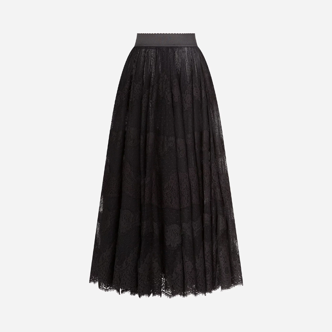 LONG LACE PLUMETIS SKIRT