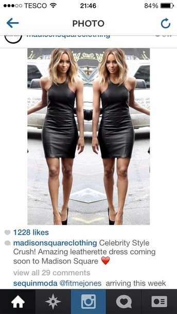 Ciara Wears A Black Dress Sold On Revolveclothing For 232