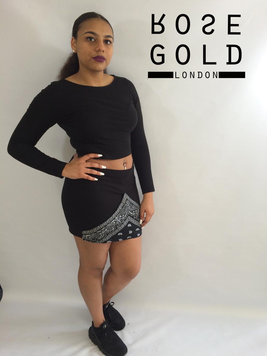 Rose gold london — bandana mini skirt