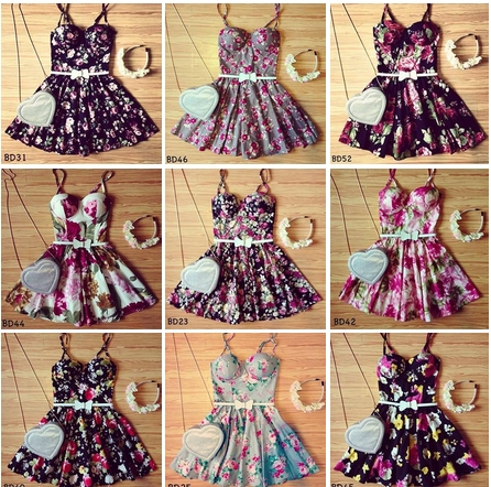 Flirty floral bustier dress