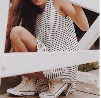 dress stripe white spring t-shirt
