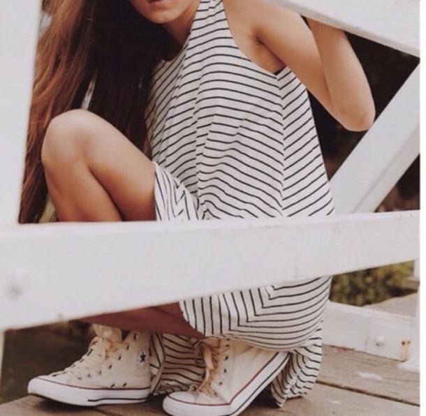 dress stripes white spring t-shirt