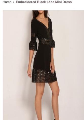 dress embroidered black lace mini dress mini dress craze clothing ethnic boho little black dress embroidery dress