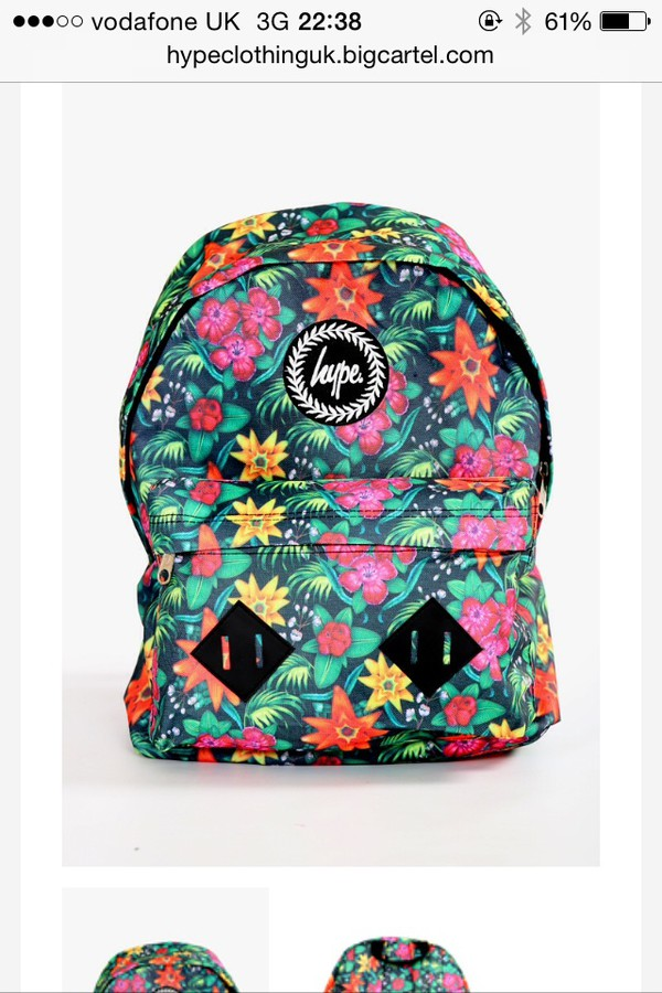 bag hype mens backpack floral backpack backpack