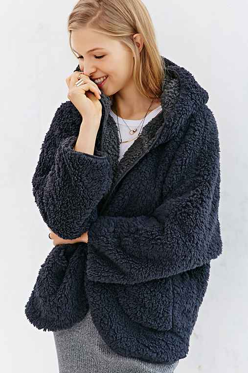 BDG Fuzzy Reversible Jacket - Urban Outfitters