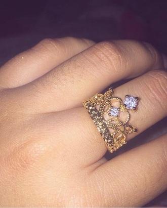 jewels princess princess ring ring crown ring