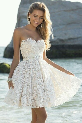 dress bustier dress flowers dress white dress dentelle dress